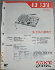 SONY ICF-S30L 2-Band Radio Service Manual