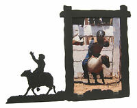 """Sheep Riding Rodeo Picture Frame 5""""x7"""" V Mutton Busting"""