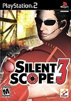 SILENT SCOPE 3 PS2 PLAYSTATION 2 Game ONLY 33k III Fast Ship