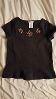 Super cool Crewcuts SS Charcoal Peplum Beaded Top 10 Embellished