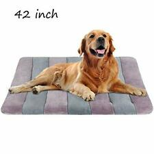 """Dog Bed Large Crate Bed Mat 42"""" Pet Beds Washable Anti-Slip Bottom, Mattress Pad"""