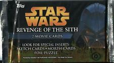 Star Wars Revenge Of The Sith Factory Sealed Hobby Pack