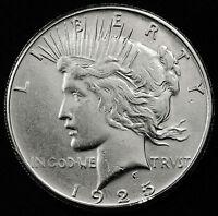 1925-s Peace Silver Dollar.  B.U.  88450   (Inv. D)