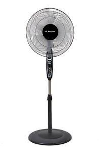 Ventilador de Pie Oscilante 50W 3 Velocidades Hélice 40cm Asa Poco Consumo Negro