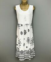 Italian Maxi Dress White Lace Ladies New Lagenlook Summer Holiday Size 14 16 18