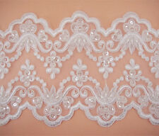 Beaded Costume Lace Trim Embroidered Craft Ribbon Wedding Dress Blossom Edging