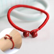 Women Lucky Bead Red Thread String Ceramic Charm Handmade bracelet adjustable