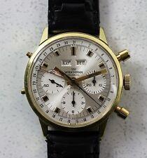 Vintage Wakmann Triple-Date Chronograph Wristwatch 39mm Valjoux 72C MINT