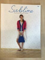 Fourth Sublime Worsted Knitting Pattern Book With 15 Designs For Women 709