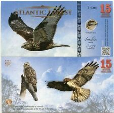 SPECIMEN - ATLANTIC FOREST 15 AVES DOLLARS 2016 UNC HAWK