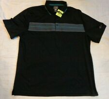 Nwot Greg Norman Tasso Elba Golf Polo,Xl Men,Black S/S Shirt Ply Cool,Excellent