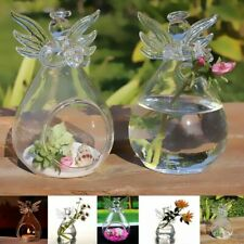 Glass Hanging Standing Candle Holder Vase Hydroponic Container Angle Shape