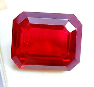 AAA 58.20 CT Natural Blood Red Mozambique Ruby GORGEOUS Emerald Gem CERTIFIED