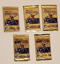 O-Pee-Chee  Baseball Premier Gold Trading Cards 1991  10 Factory Sealed Packs -2