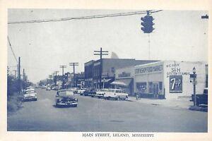 # B186   LELAND,  MS.    POSTCARD,    MAIN  STREET