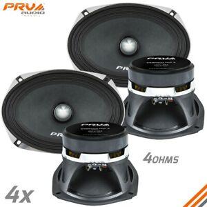 4x PRV Audio 69MR500-PhP-4 Midrange Car Audio Speakers 4 Ohms 6x9 PRO 500W