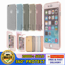 For Apple iPhone Shockproof 360° Front and Back Full Body Hybrid Silicone case