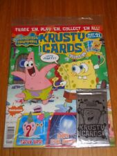 KRUSTY CARDS COLLECTION #21 SPONGEBOB SQUAREPANTS UK MAGAZINE WITH CARDS =