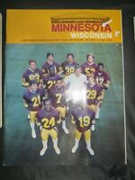 1983 UNIVERSITY OF WISCONSIN BADGERS FOOTBALL PROGRAM VS MINNESOTA GOPHERS