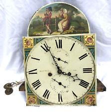 "Antique 12 "" Longcase Grandfather Clock Dial & Movement 8 day PROCTER TARLAND"