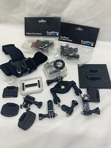 Genuine GoPro Hero 2 Motorcycle Helmet Lot Waterproof Mount Accessories Handleba