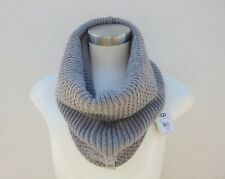 UGG NYLA GREY HEATHER METALLIC TEXTURED SNOOD SCARF, ONE SIZE ~NWT