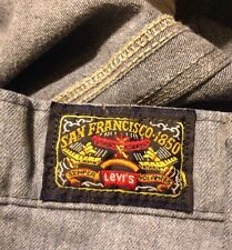 RARE LEVI'S SAN FRANCISCO SOFT DENIM PANTS AIRPLANE LABEL WHITE TAB Men's 36X30