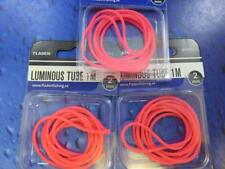 3 FLADEN LUMINOUS RED LUMI RIG TUBE TUBING FOR SEA BOAT PIER FISHING  137923
