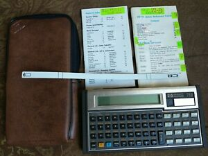 Working HP-71b Calculator with HP-IL module, card reader, soft case