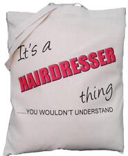 It's a HAIRDRESSER thing - you wouldn't understand - Natural Cotton Shoulder Bag