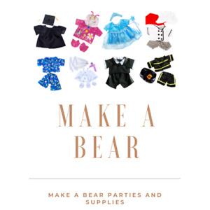 "16"" Christmas Teddy Bear Clothes Outfits Santa Father Xmas fit build a bear"