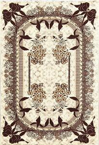 Gorgeous Floral Ivory Modern Turkish Oriental Area Rug 5x7 Plush Soft Carpet New