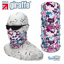G465 Pink floral Multifunctional Headwear Snood Bandana Headband Tube
