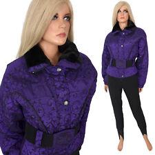 Vintage NILS SKI BUNNY SUIT Luxury One Piece Stretchy Stirrup Pants Purple
