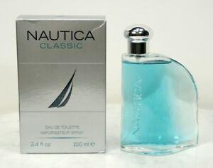 Genuine NAUTICA CLASSIC Eau de Toilette Vaporisateur Spray. 3.4 fl oz 100ml NEW