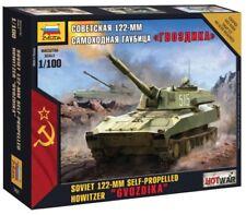 """Zvezda 1/100 Soviet 122-MM OBICE SEMOVENTE """"GVOZDIKA"""" # 7421"""