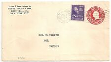 COVER USA UNITED STATES TO SWEDEN CHURCH ST. ANNEX.  N.Y. 10 . 1939. L366