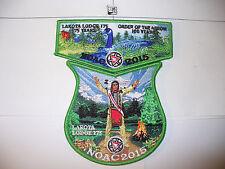 Lakota Lodge 175,1915- 2015,100th Ann OA,2 Part NOAC Set, Spring Goose,Indian,IL