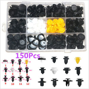150PCS Car Door Panels Bumper Cover Autos Fender Plastic Fasteners Boxed Kits