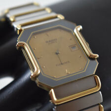 Vintage Rado Florence 160.3409.2 Saphire Women'Gray/Gold Swiss Watch NEW BATTERY