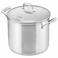 New SCANPAN Impact 18/10 S/Steel Covered Stockpot with Lid 24cm - 7.2 Litre