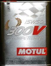 2 Liter Motul 300V Competition 15W50 Motoröl Vollsynthetisch  RACING ÖL 15W-50