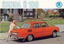 Motokov Skoda 100 PKW car auto brochure Prospekt um 1971