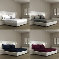 Extra Deep Fitted Sheet Bed Sheets for Bedroom Single Double King Super Pillow