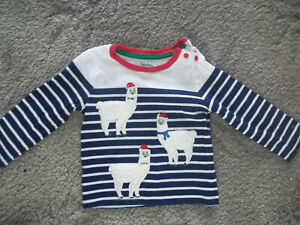 Baby Boden Xmas LLama Jumper Age 12-18 months Great Condition