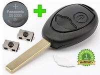 NEW KEY FOB FOR MINI COOPER R50 R53 ONE D CLUBMAN +CR2032 BATTERY + 2 x BUTTONS