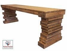 Panca Panchina in legno al naturale o 7 colori  80x38.5x46 cm impregnato