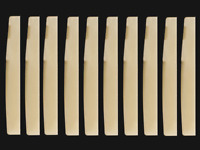 10pcs Guitar Unbleached BONE Saddle nut bridge 72X3X9mm acoustic Luthier