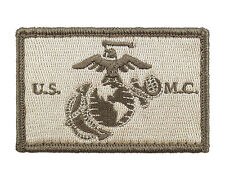 USMC EGA Subdued Tactical Hook & Loop Embroidered Morale Tags