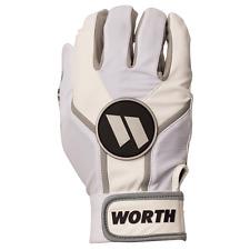 Worth Team Batting Gloves White XL (PAIR), new!